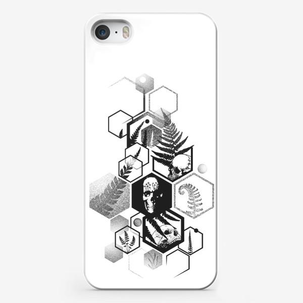 Чехол iPhone «Hexagon Ferns Tattoo»