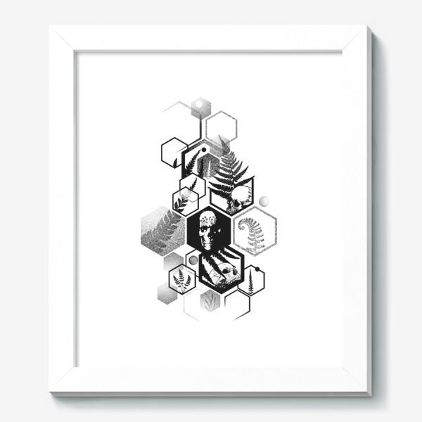 Картина «Hexagon Ferns Tattoo»