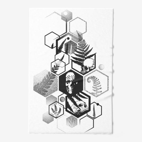 Полотенце «Hexagon Ferns Tattoo»
