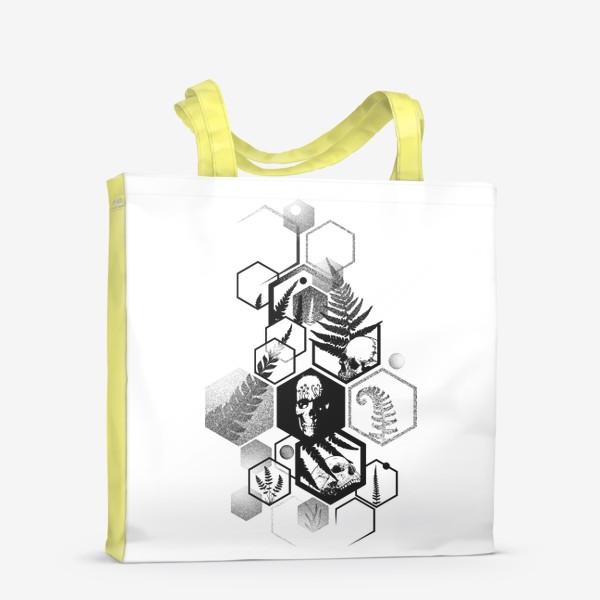 Сумка-шоппер «Hexagon Ferns Tattoo»