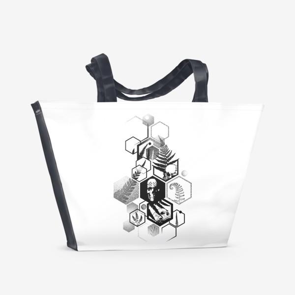 Пляжная сумка «Hexagon Ferns Tattoo»