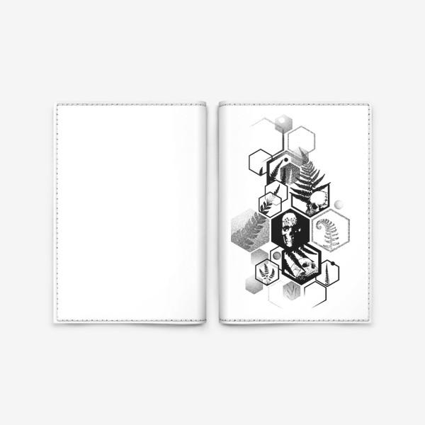 Обложка для паспорта «Hexagon Ferns Tattoo»