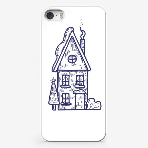 Чехол iPhone «Зимний домик»