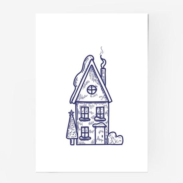 Постер «Зимний домик»