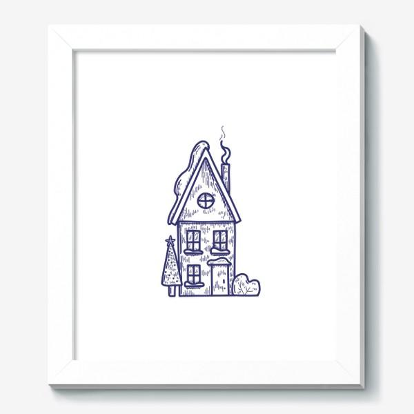 Картина «Зимний домик»