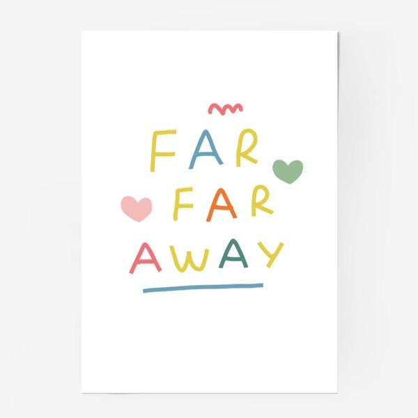 Постер «far far away / тридевятое царство / далеко далеко»