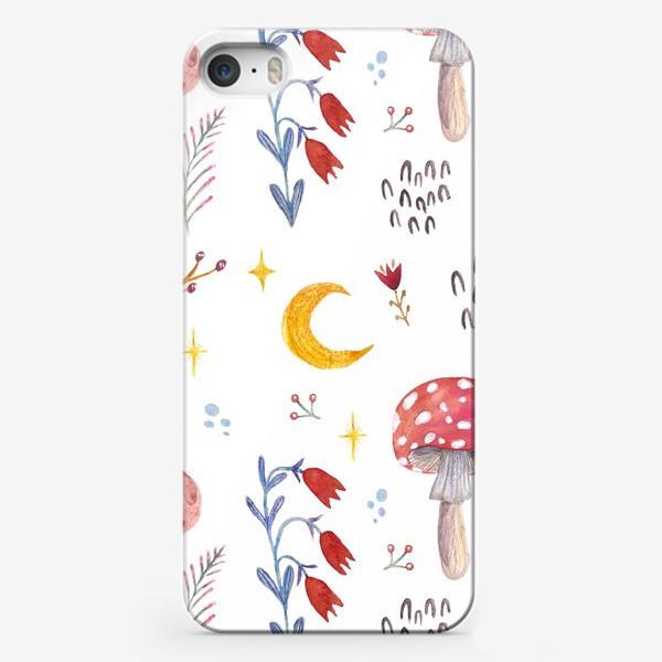 Чехол iPhone «Цветы паттерн FLOWERS грибы»