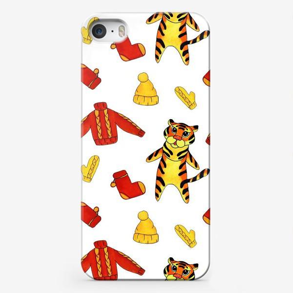 Чехол iPhone «Модный тигрёнок на белом фоне»