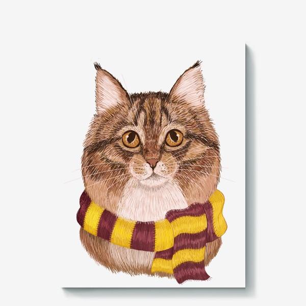 Холст «Котики из Хоргвартса. Гриффиндор.»