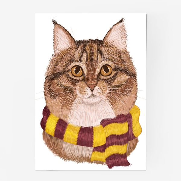 Постер «Котики из Хоргвартса. Гриффиндор.»