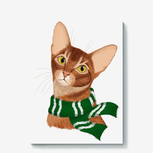 Холст «Котики Хогвартса. Слизерин.»