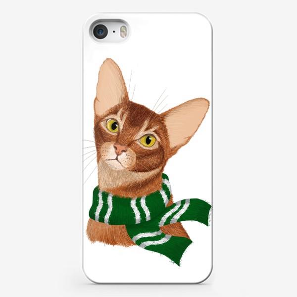 Чехол iPhone «Котики Хогвартса. Слизерин.»