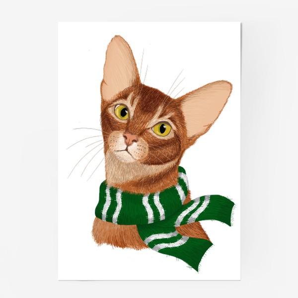 Постер «Котики Хогвартса. Слизерин.»