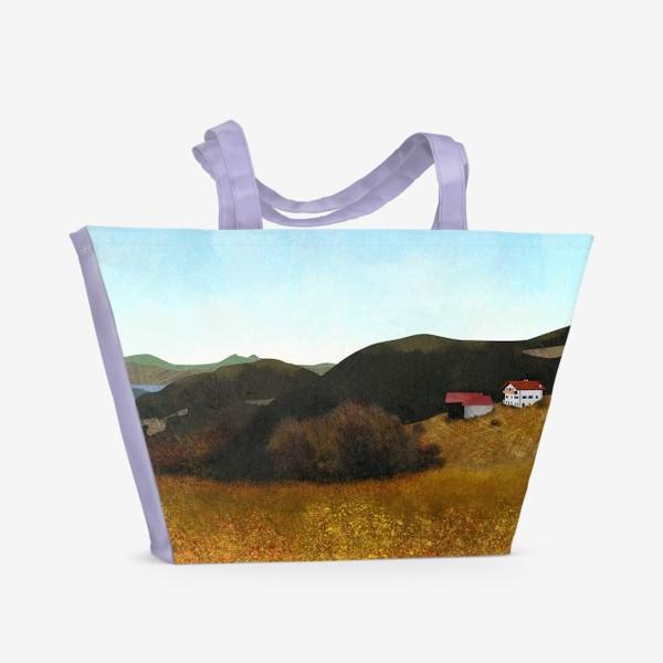 Пляжная сумка «Осенний пейзаж»