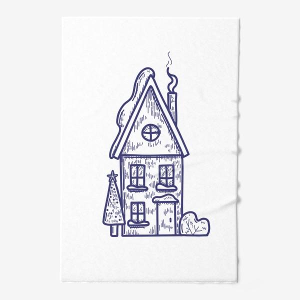 Полотенце «Зимний домик»