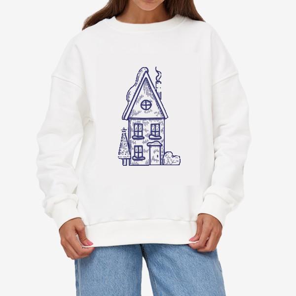 Свитшот «Зимний домик»