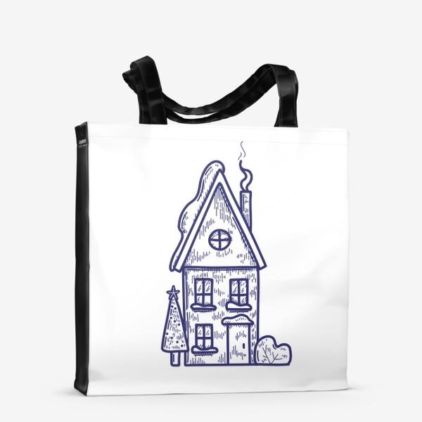 Сумка-шоппер «Зимний домик»