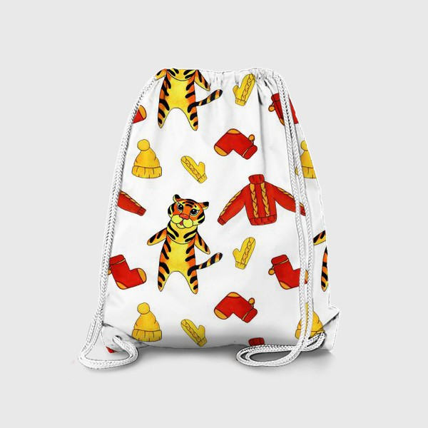 Рюкзак «Модный тигрёнок на белом фоне»