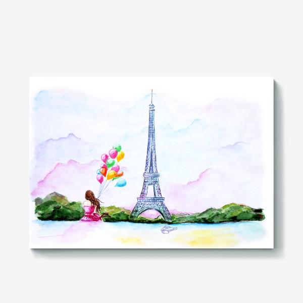 Холст «Париж. Paris»