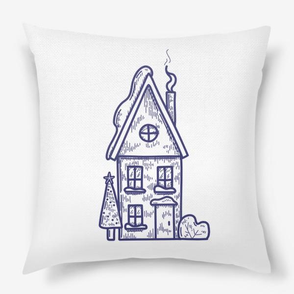 Подушка «Зимний домик»