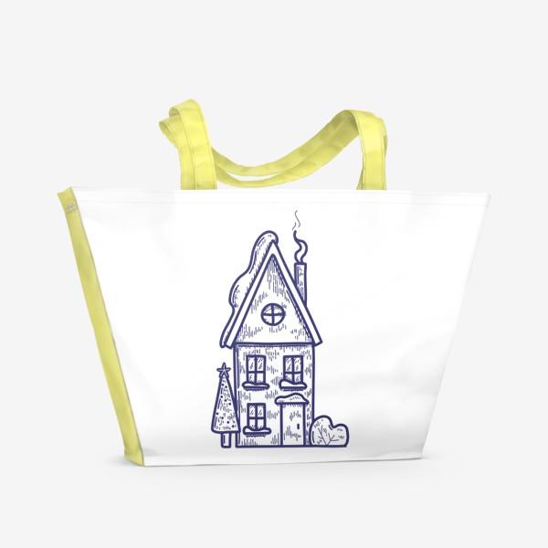 Пляжная сумка «Зимний домик»