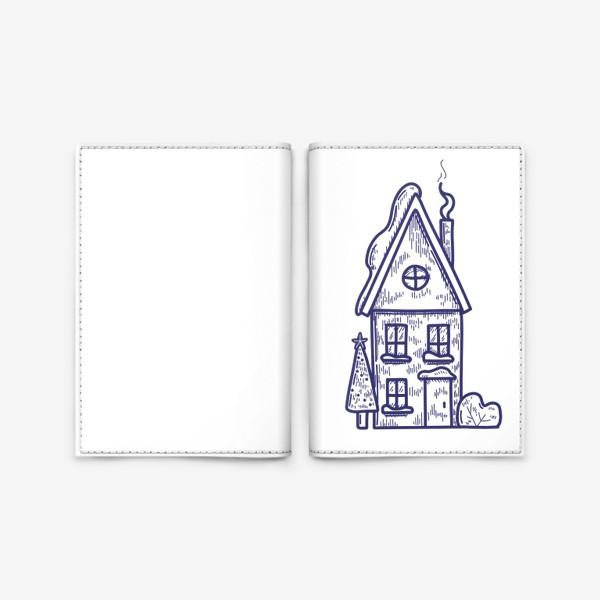Обложка для паспорта «Зимний домик»