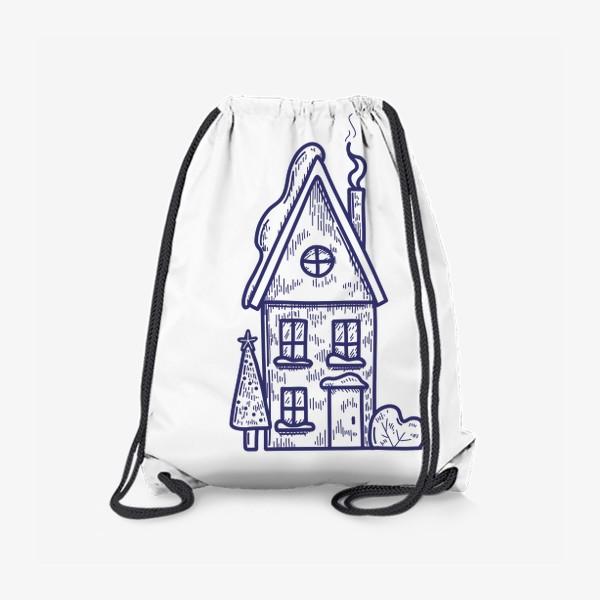 Рюкзак «Зимний домик»