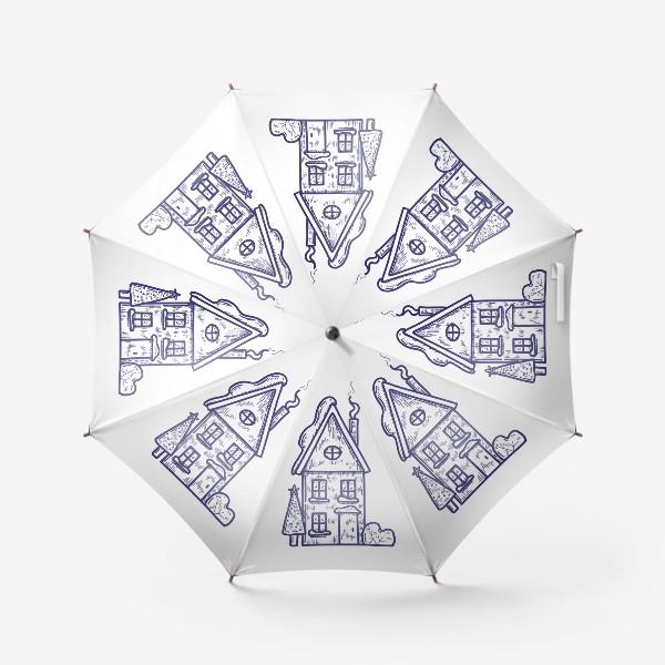 Зонт «Зимний домик»