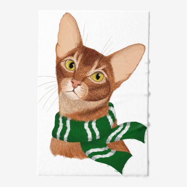 Полотенце «Котики Хогвартса. Слизерин.»