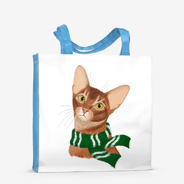 Сумка-шоппер «Котики Хогвартса. Слизерин.»