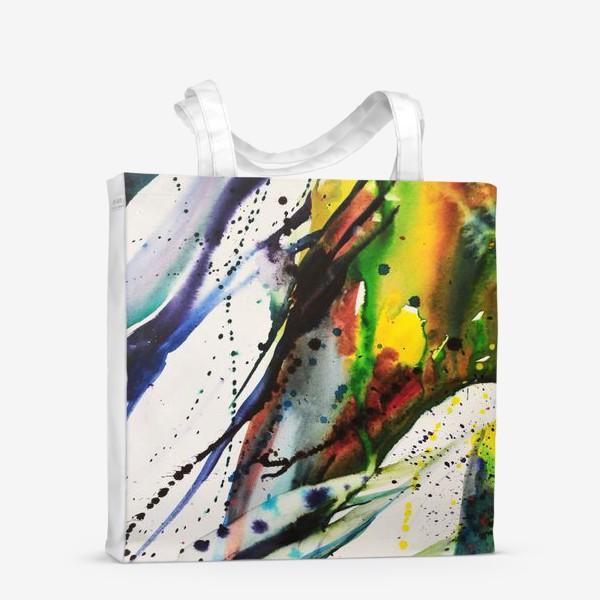 Сумка-шоппер «Акварельный абстрактный фон»