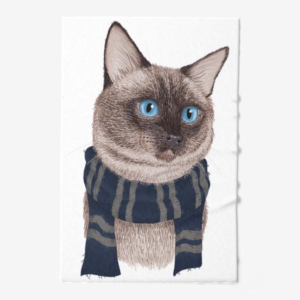 Полотенце «Котики Хогвартса. Когтевран.»