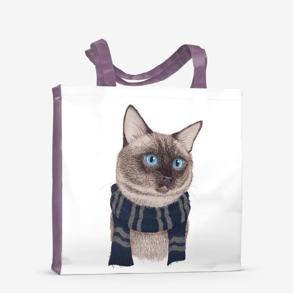 Сумка-шоппер «Котики Хогвартса. Когтевран.»