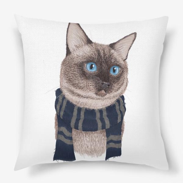Подушка «Котики Хогвартса. Когтевран.»