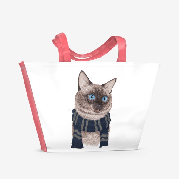 Пляжная сумка «Котики Хогвартса. Когтевран.»