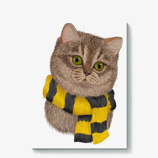 Холст «Котики Хогвартса. Пуффендуй.»