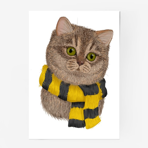 Постер «Котики Хогвартса. Пуффендуй.»