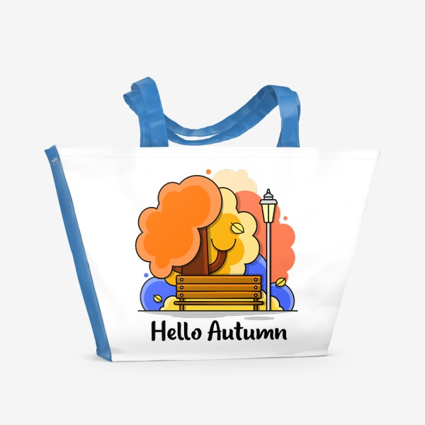 Пляжная сумка «Привет Осень»
