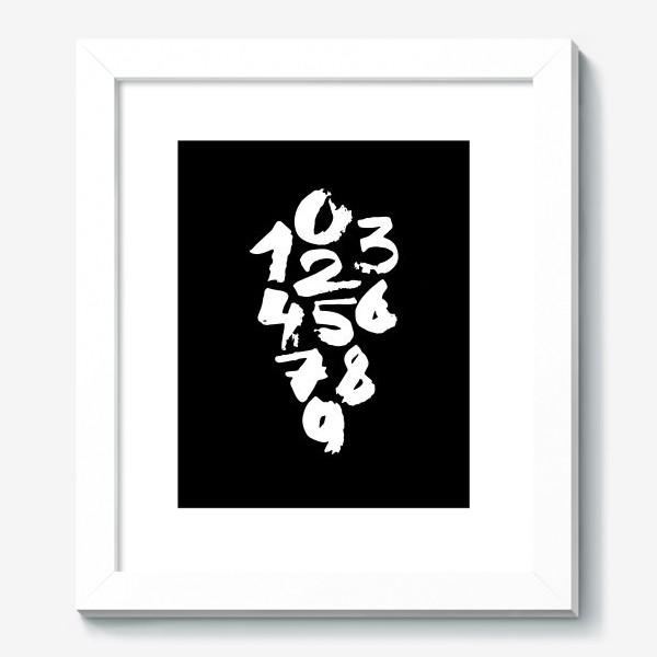 Картина «Calligraphy number. Bkack and white. Цифры. Каллиграфия.»