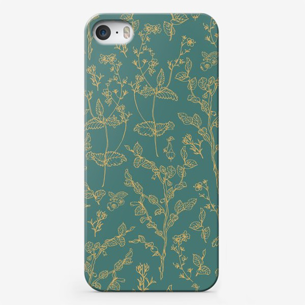 Чехол iPhone «золотые веточки»