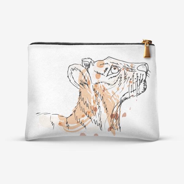 Косметичка «тигр, лев скетч»