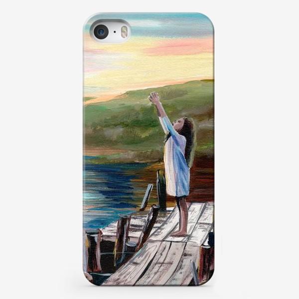Чехол iPhone «Девочка на мосту»