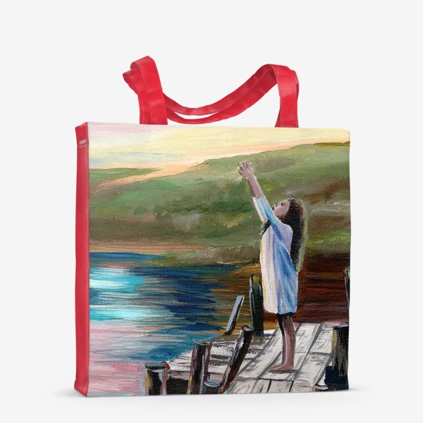 Сумка-шоппер «Девочка на мосту»