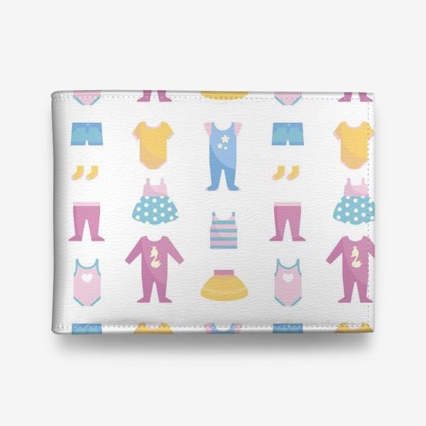 Кошелек «Бесшовный паттерн. Милые детские вещи для новорожденного»
