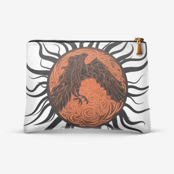 Косметичка «Ворон, солнце и тентакли»