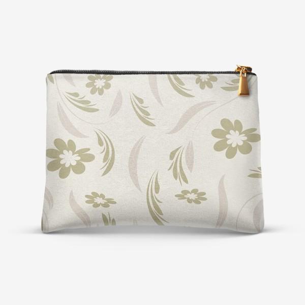 Косметичка «Folk flowers pattern Floral surface design Seamless pattern»