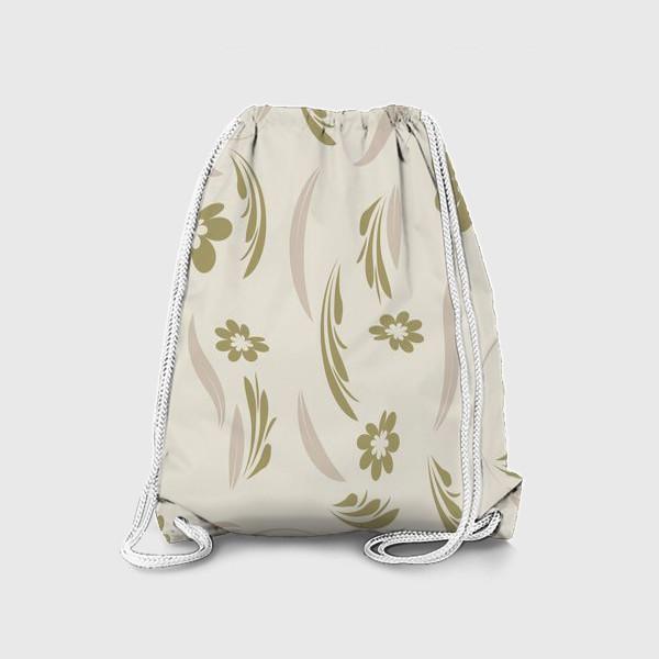 Рюкзак «Folk flowers pattern Floral surface design Seamless pattern»