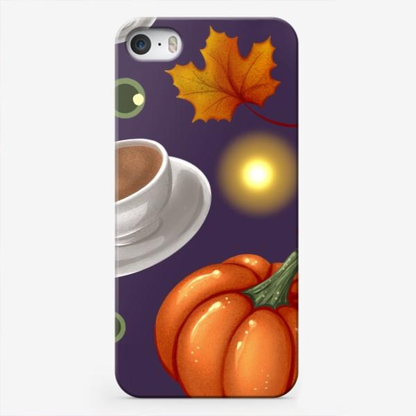 Чехол iPhone «Тыквы и кофе»