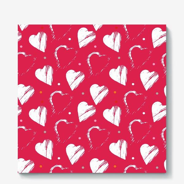 Холст «Сердца в красном»