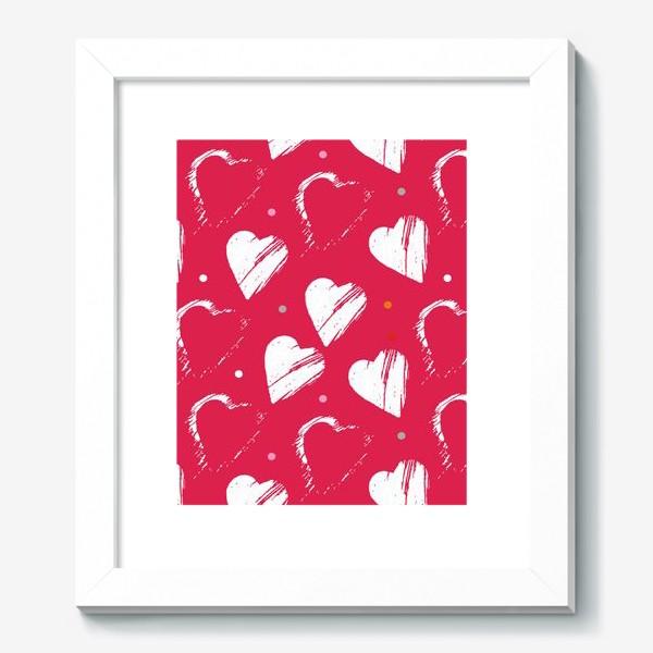 Картина «Сердца в красном»